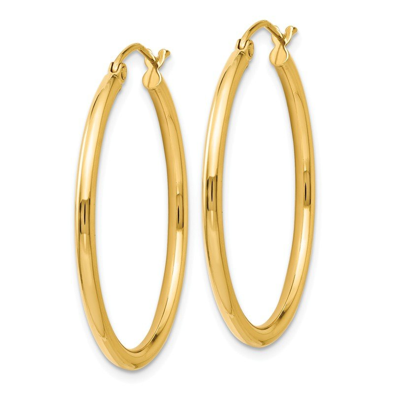 Leslie's Leslie's 14K 2mm Polished Hoop Earrings