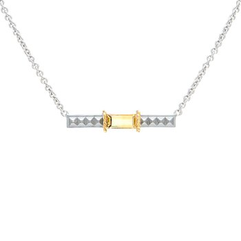 18kt and Sterling Silver Citrine Necklace