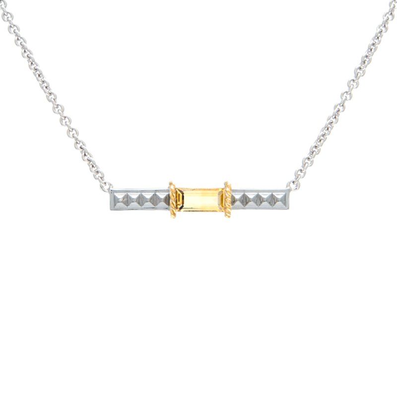 Andrea Candela 18kt and Sterling Silver Citrine Necklace
