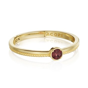 Gemstone Band Ring w/ Garnet