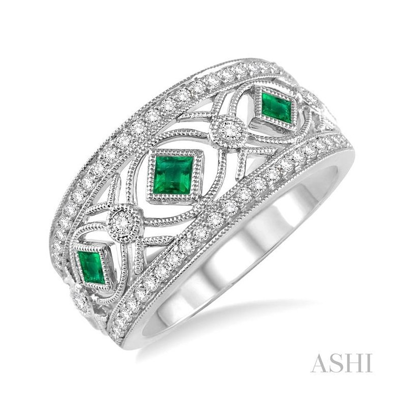 ASHI diamond & gemstone band