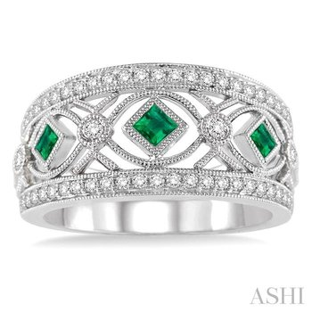 diamond & gemstone band