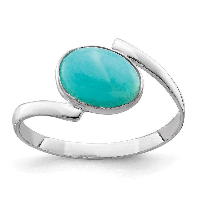 Quality Gold Sterling Silver Oval Amazonite Ring