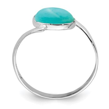 Sterling Silver Oval Amazonite Ring
