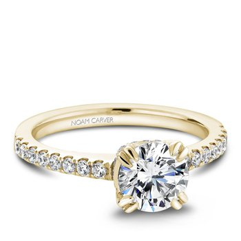 Noam Carver Modern Engagement Ring B009-01YA