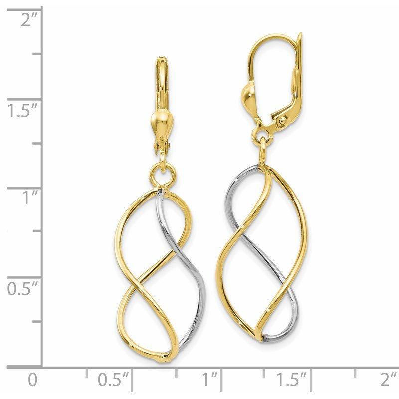 Leslie's Leslie's 10K Yellow with Rhodium Polished Leverback Earrings