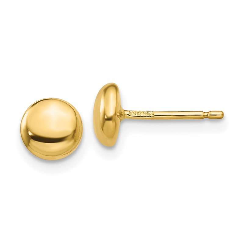 Quality Gold 14k Polished Button Post Ear