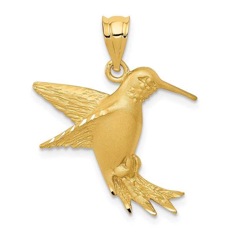 Quality Gold 14k Hummingbird Charm