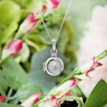 Shelly Petite Locket Necklace Silver