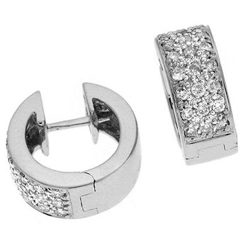 White Gold  5mm Huggie Earring