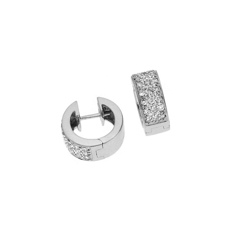 S. Kashi  & Sons White Gold  5mm Huggie Earring