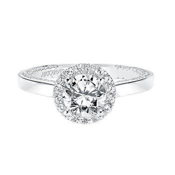 Halo Diamond Engagement Semi