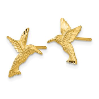 14K Hummingbird Earrings