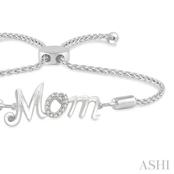 silver mom lariat diamond bracelet