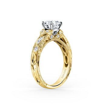 Marquise Leaf Diamond Engagement Ring