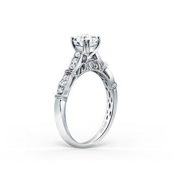 Milgrain Vintage Diamond Engagement Ring