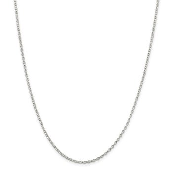 Sterling Silver 1.6mm Oval Fancy Rolo Chain