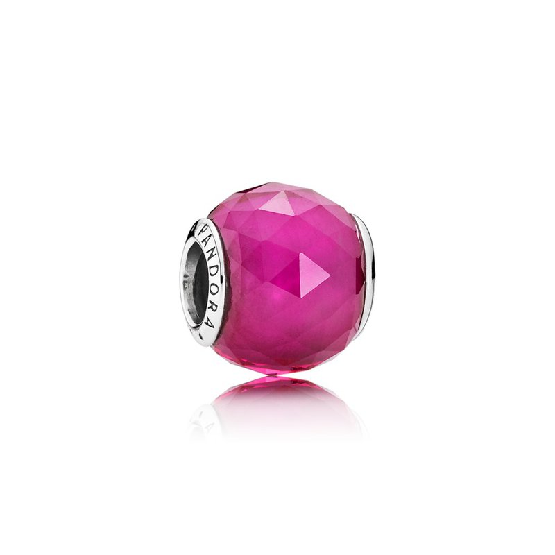 PANDORA Geometric Facets Charm, Synthetic Ruby