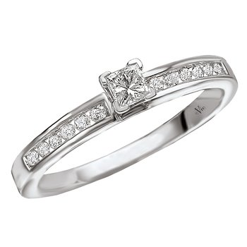 Solitaire Semi-Mount Diamond Ring
