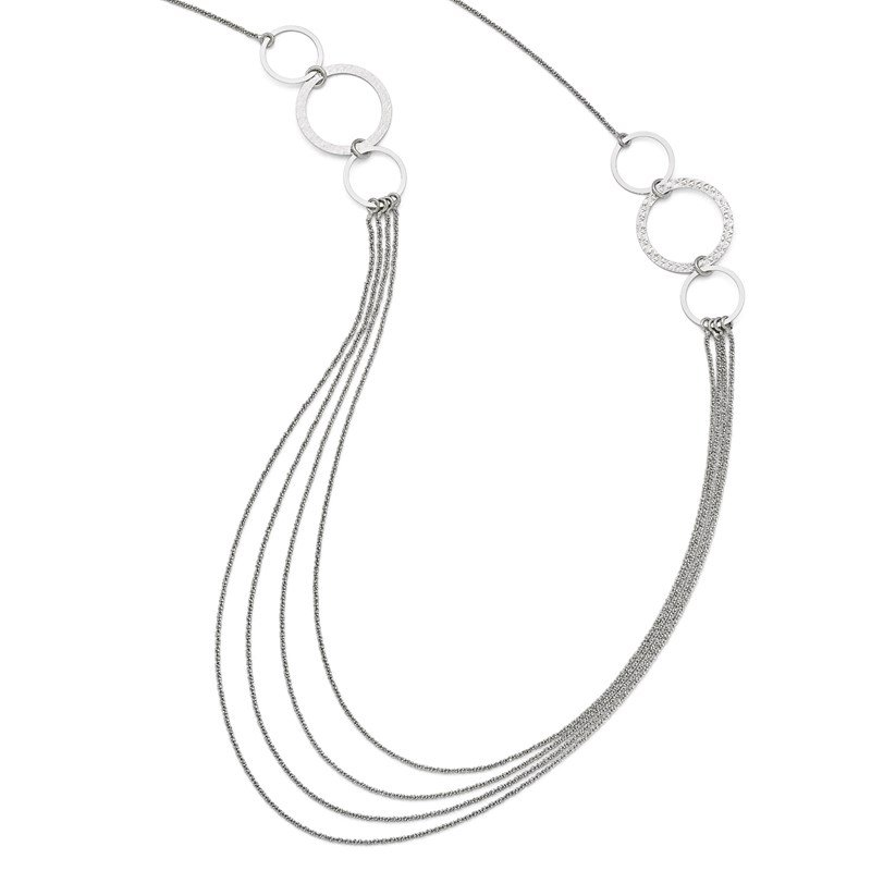 Leslie's Leslie's Sterling Silver Rhodium-plated D/C Necklace