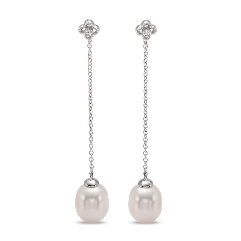 Mastoloni Pearls Clover Chain Drop Earrings