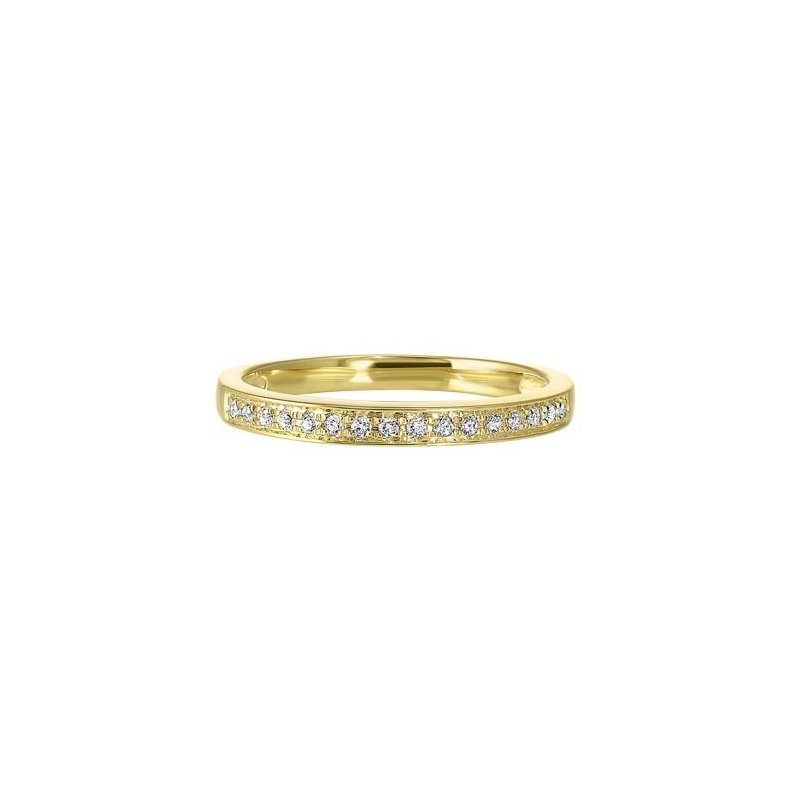 Gems One Diamond Channel Stackable Band in 14k Yellow Gold (1/10ctw)