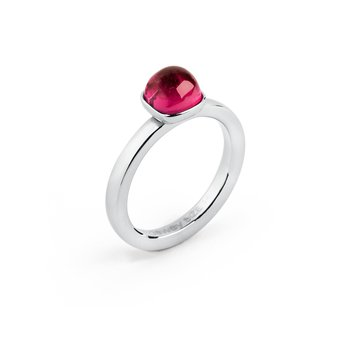 316L stainless steel and ruby zircon.