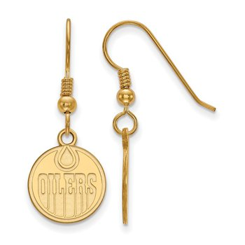 Gold-Plated Sterling Silver Edmonton Oilers NHL Earrings