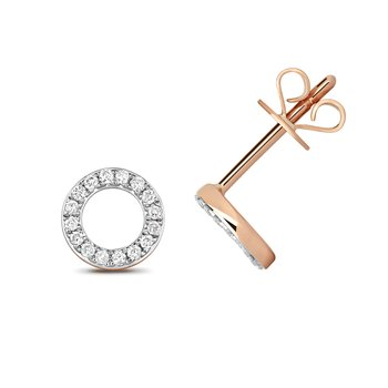 Diamond Circle Earring Studs