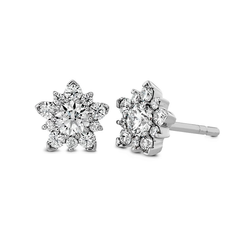 Hearts on Fire 1.25 ctw. Aerial Cluster Stud Earrings