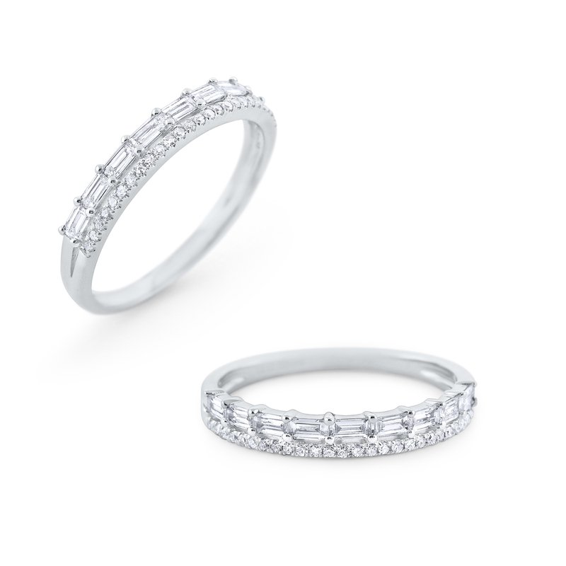 KC Designs Double Row Diamond Mosaic Band Set in 14 Kt. Gold