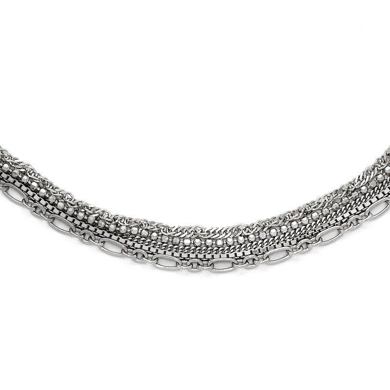 Leslie's Leslie's Sterling Silver Polished Five Strand w/2in ext. Necklace