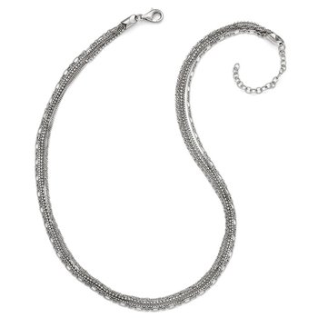Leslie's Sterling Silver Polished Five Strand w/2in ext. Necklace
