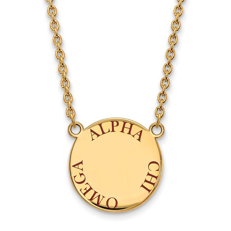 Greek Life Gold-Plated Sterling Silver Alpha Chi Omega Greek Life Necklace