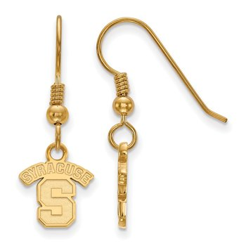 Gold-Plated Sterling Silver Syracuse University NCAA Earrings