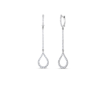 18KT GOLD ART DECO DROP EARRINGS WITH DIAMONDS