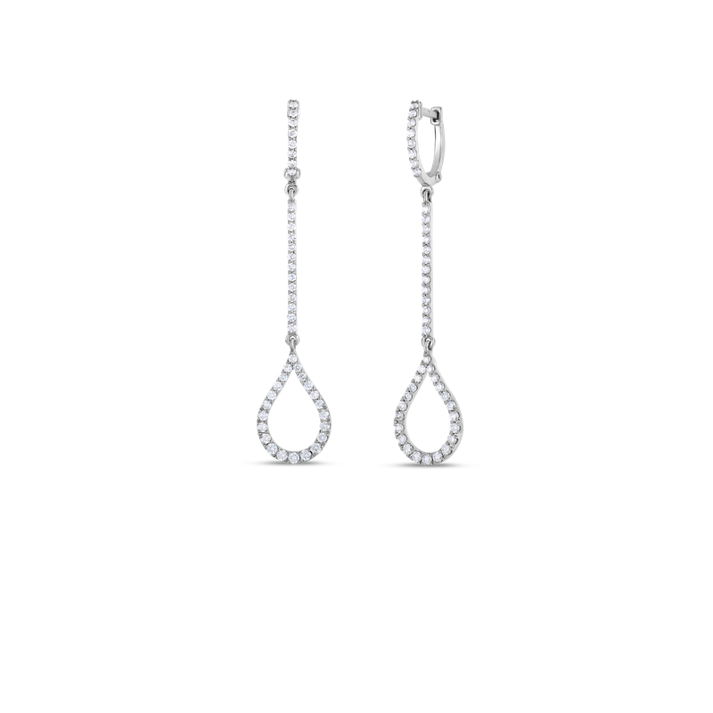 Roberto Coin 18Kt Gold Art Deco Drop Earrings With Diamonds