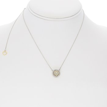 Circular Diamond Cluster Necklace