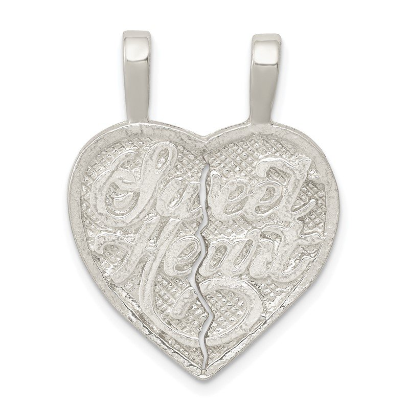 Quality Gold Sterling Silver Sweet Heart 2-piece break apart Heart Charm