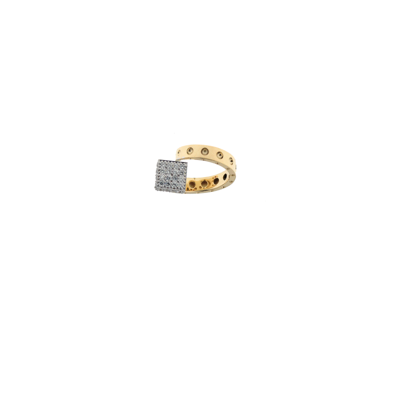 Roberto Coin 18Kt Gold Chiodo Ring With Diamonds