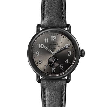 Runwell Sub Second 41mm, Black Leather Strap