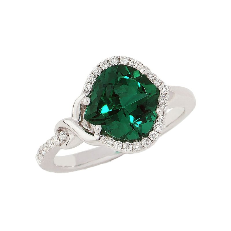 Chatham Emerald Ring-CR8250WEM