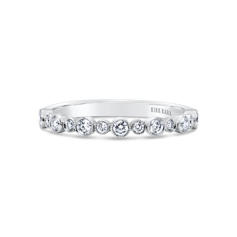 Bubble Milgrain Diamond Wedding Band