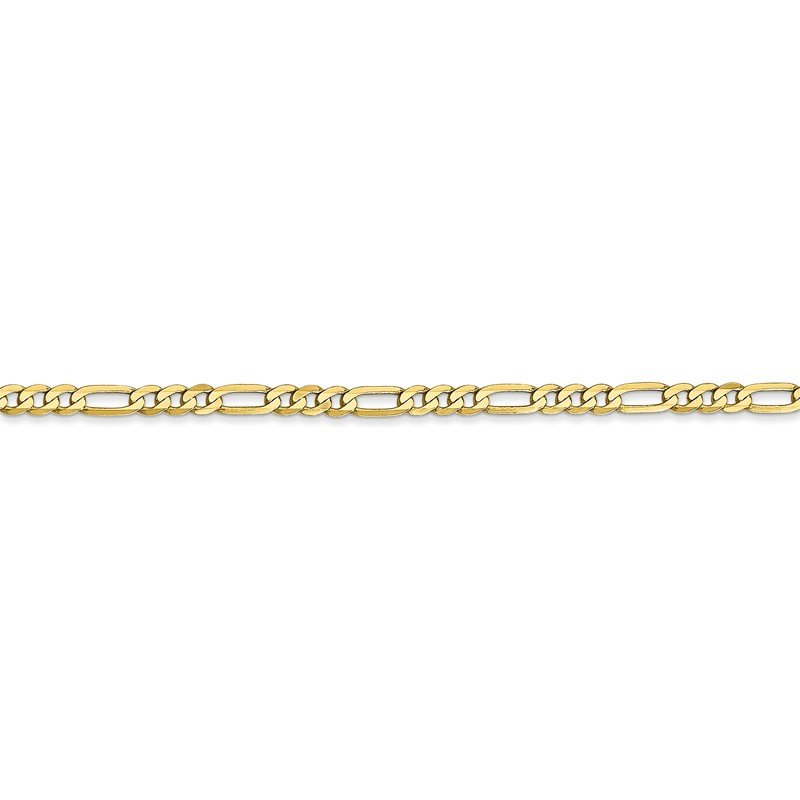Quality Gold 10k 2.75mm Flat Figaro Chain