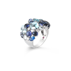 Roberto Coin Ring With Diamond, Lolite, Topaz And Sapphires &Ndash; 6.5