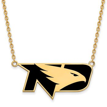 Gold-Plated Sterling Silver University of North Dakota NCAA Necklace