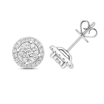 Diamond Brilliant Earrings Halo