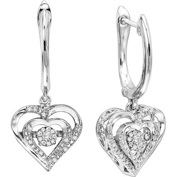 Silver Rhythm Of Love Earrings
