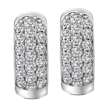 Ladies Diamond Huggie Earrings