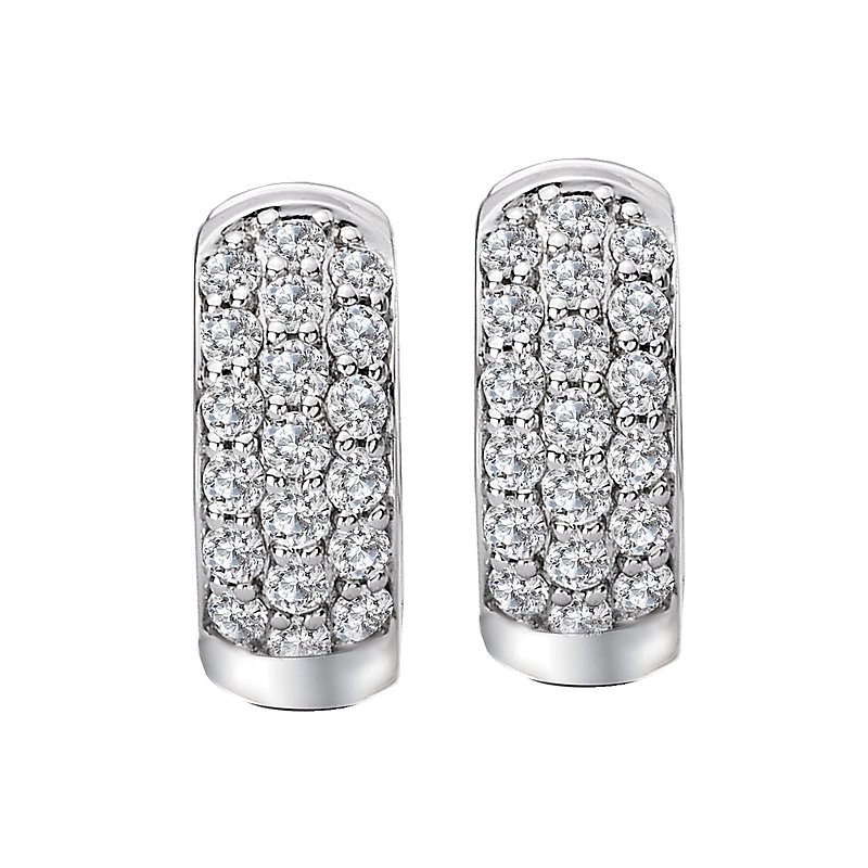 Tesoro Ladies Diamond Huggie Earrings